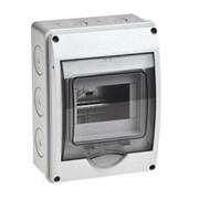 Бокс ОП Тусо 5модулей IP65 серый/дымчатый дверцей Рувинил 69005