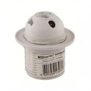 Электрический патрон Е27 термостойкий пластик, с кольцом, Белый