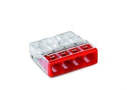 Клемма WAGO 2273-204,  4х(0.5-2.5мм) 4-х проводные для распределительной коробки (без пасты)
