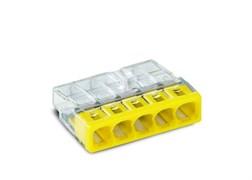 Клемма WAGO 2273-205,  5х(0.5-2.5мм) 5-х проводные для распределительной коробки (без пасты)