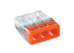 Клемма WAGO 2273-243,  3*(0,5-2,5мм) 3-х проводые для распределительной коробки (с пастой)