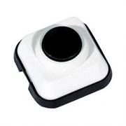 Кнопка звонка белая с черной кнопкой  0.4А Schneider А1 0,4-011