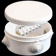 Коробка распределительная ОП У-140  90*45 белая с клемами Белая ЭПП 140143