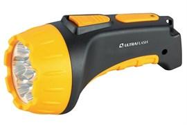 Фонарь Ultraflast LED 3807 аккумулятор 220 в чёрный/жёлтый пластик короб 2 режима