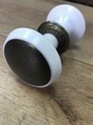 Ручка РК 2 белая-бронза