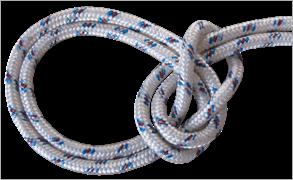 Шнур плетеный 16-прядный капроновый Д- 6мм, р/н 700 кгс