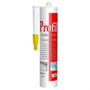 Герметик силиконовый санитарный белый 280 мл Soudal Profil