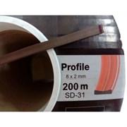 Уплотнитель KIM TEC для окон и дверей, профиль SD-31А/4, Коричневый, 8x2мм, самоклеящийся, упаковка 200м (на метраж)