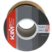 Уплотнитель KIM TEC для окон и дверей, профиль Р, Коричневый, 9x5.5мм, самоклеящийся (на метраж)