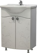 Тумба для ванной комнаты Бабочка 50 (Уют 50), без умывальника, белый