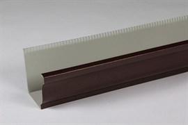 Желоб водосточный оцинкованный, гладкий полиэстер, 0.5x200x2000мм, прямоугольное сечение, RAL 8017 коричневый