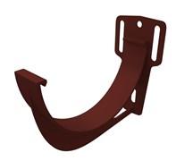 Кронштейн желоба водосточной системы, полочка 200мм, металлический, RAL 8017, коричневый