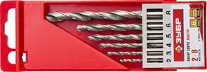 Набор ЗУБР Мастер Свёрла по металлу, цилиндр хвостовик, быстрорежущая сталь, 2-3-4-5-6-8мм, 6шт. в упаковке