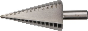 Сверло по металлу ступенчатое Hardcore, 4-32 мм, 15-ступенчатое