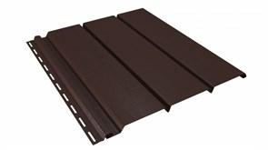 Софит (панель) пластиковый ПВХ для крыши 300.Н.497С, 1x300x3000мм, сплошной, коричневый