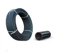 Труба водопроводная питьевая, диаметр 32мм, ПЭ-100 полиэтилен низкого давления ПНД, черная, бухта 100м, на метраж