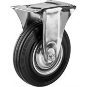 Колесо неповоротное ЗУБР Профессионал, диаметр 125 мм, грузоподъемность 100кг, резина/металл, игольчатый подшипник