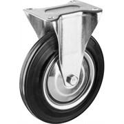 Колесо неповоротное ЗУБР Профессионал, диаметр 200 мм, грузоподъемность 185кг, резина/металл, игольчатый подшипник
