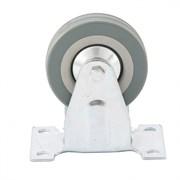 Колесо неповоротное Сибртех, диаметр 100мм, грузоподъемность 65кг, платформенное крепление