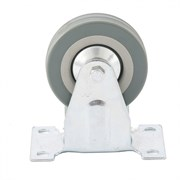 Колесо неповоротное Сибртех, диаметр 75мм, грузоподъемность 50кг, платформенное крепление
