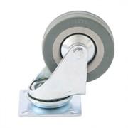 Колесо поворотное Сибртех, диаметр 100мм, грузоподъемность 65кг, платформенное крепление