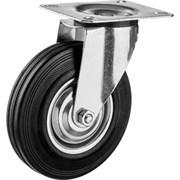 Колесо поворотное ЗУБР Профессионал, диаметр 125 мм, грузоподъемность 100кг, резина/металл, игольчатый подшипник