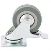 Колесо поворотное Сибртех с тормозом, диаметр 100мм, платформенное крепление