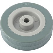 Колесо хозяйственное Сибртех, полиуретановое, диаметр 100мм, грузоподъемность 65кг