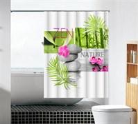 Шторка для ванной комнаты тканевая Духовная истина MZ-98, 180x180см, водонепроницаемая