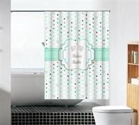 Шторка для ванной комнаты тканевая Расслабься в ванной MZ-88, 180x180см, водонепроницаемая
