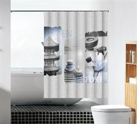 Шторка для ванной комнаты тканевая Сила духа MZ-94, 180x180см, водонепроницаемая