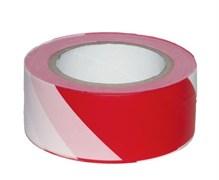 Лента сигнальная оградительная Сибртех, 50ммx200м, красно-белая, рулон