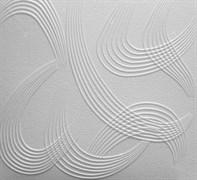Плитка  потолочная экструзионная Лагом декор Формат 3102, 50x50см, пенополистирол, белая, упаковка 8шт. (2м2)