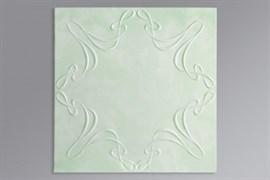 Плитка  потолочная экструзионная Лагом декор Формат 3802, 50x50см, пенополистирол, белая, упаковка 8шт. (2м2)