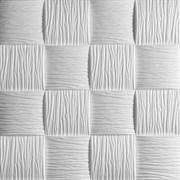 Плитка  потолочная экструзионная Лагом декор Формат 3902, 50x50см, пенополистирол, белая, упаковка 8шт. (2м2)