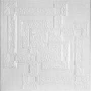 Плитка  потолочная экструзионная Лагом декор Формат 5602, 50x50см, пенополистирол, белая, упаковка 8шт. (2м2)