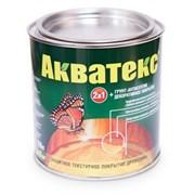 Средство для защиты и тонирования древесины Акватекс, (защитное покрытие + грунт-антисептик), 0.8л, текстурное, белый