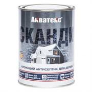 Антисептик/пропитка декоративно-защитная Акватекс СКАНДИ, кроющий, 0.75л, полуматовый, Топленое молоко