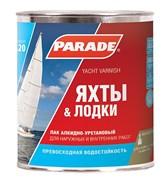 Лак яхтный PARADE алкидно-уретановый, матовый, 0.75л