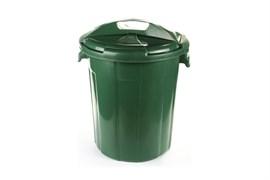 Бак пищевой Б-45, 45л, с крышкой, пластиковый, темно-зеленый