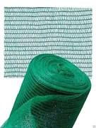 Сетка фасадная Фасад-35 ФУ-35/4/100 для защиты строительных лесов, ячейка 1.5x10мм, пластиковая, зеленая, рулон 4x100м, на метраж