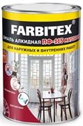Эмаль ПФ-115 Farbitex, антикоррозийная, алкидная, матовая, красная, 1.9кг