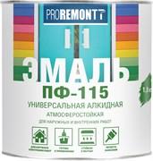 Эмаль ПФ-115 PROREMONTT, универсальная, алкидная, глянцевая, черный, 1.9кг