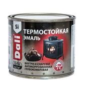 Эмаль термостойкая Dali, антикоррозийная, глубокоматовая, черная, 0.4кг