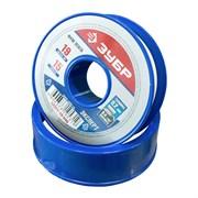 Лента фторопластового уплотнительного материала (фум-лента) Зубр Эксперт для уплотнения резьбовых соединений и фитингов, 0.2x19ммx15м, 0.40г/см3