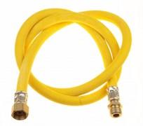 Подводка гибкая - шланг газовый TUBOFLEX, 1м, внутренняя-наружная, желтый, в упаковке