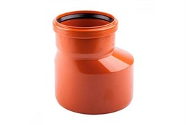 Переход 160x110мм, для наружной канализации ,пластиковый ПВХ, оранжевый