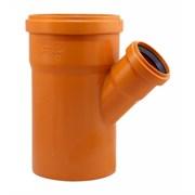 Тройник 110x50мм 45 градусов, для наружной канализации, полипропиленовый, оранжевый