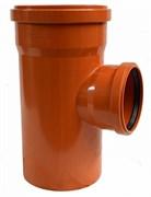 Тройник 160x110мм 90 градусов, для наружной канализации, полипропиленовый, оранжевый