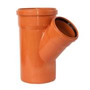 Тройник 160x160мм 45 градусов, для наружной канализации, полипропиленовый, оранжевый